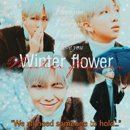 freetoedit rm winterflower namjoon yoonie