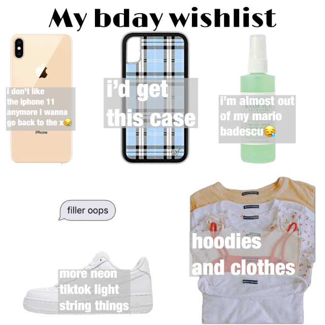 even thought my birthday is May 27th im making a list now🤩😊 Never too early to start planning ig #freetoedit