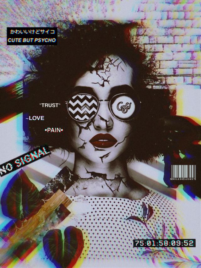 Old edit ❤ New design 🖤   #freetoedit #freestyle #replay #blackandwhite #glitch #glitcheffect