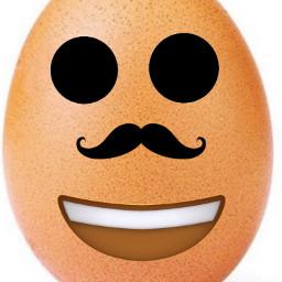 mustache egg dot mouth emoji freetoedit