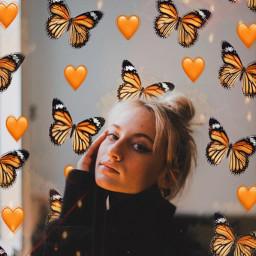 freetoedit butterfly butterflies emoji heart