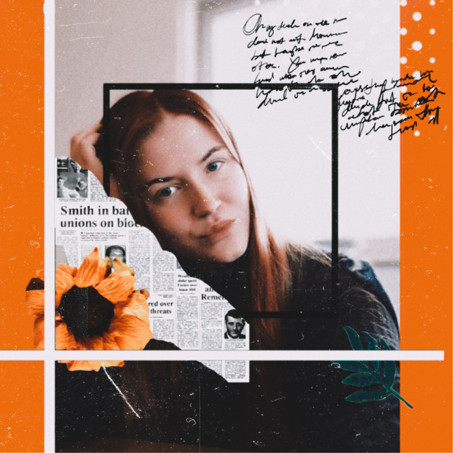 #freetoedit #girl #frame #orange #fit #replay #stickers #dots #lines #text #newspaper #mask #filters #use #nice #aesthetic #tumblr