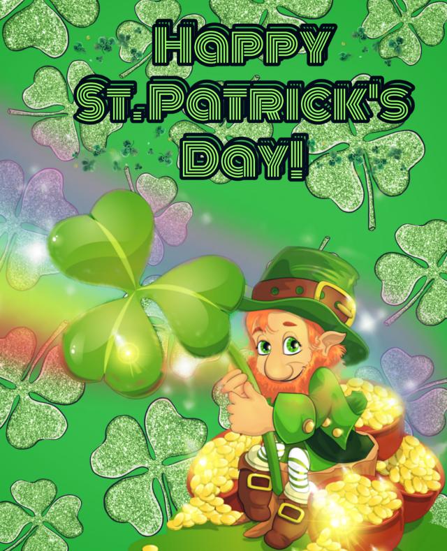 Happy St Patrick's Day #stickers #stpatricksday #freetoedit