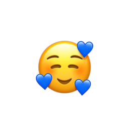 emoji blue freetoedit