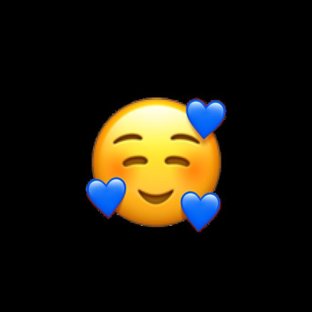 #emoji #blue #freetoedit
