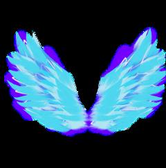 pngbyet wings angel wing blue freetoedit
