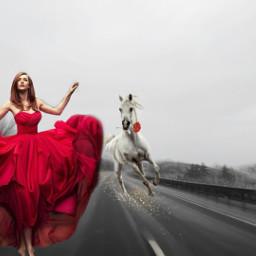 freetoedit redrose whitehorse roadbackground reddress