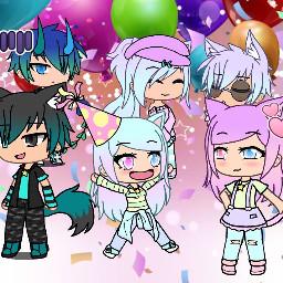 birthday gachalife party picsartedit
