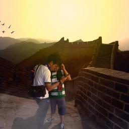 china tembokchina sunrise pemandangan gunung