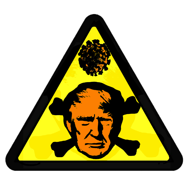 #trumpflu #coronavirus # trump #hazardsticker