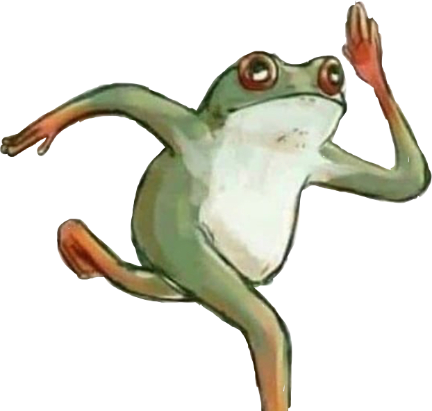 #running #frog #froggy #freetoedit