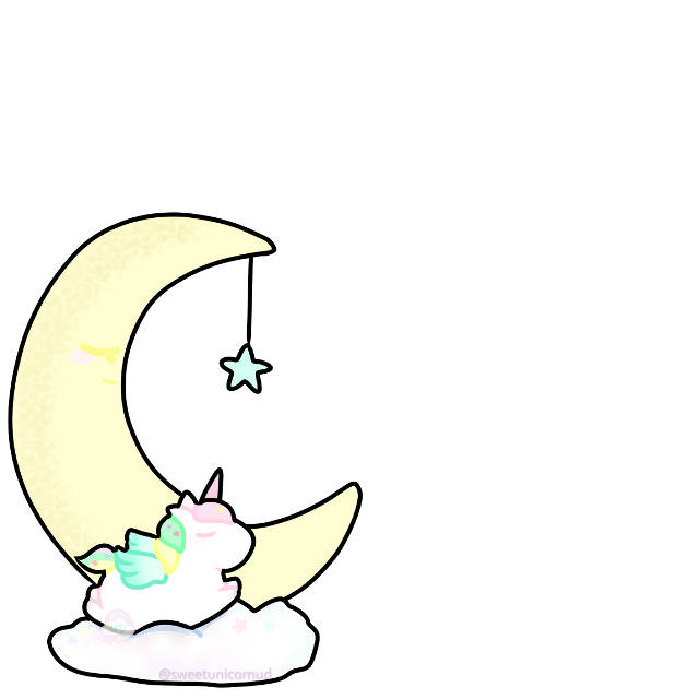 #kawaii #horn #unicorn #pegasus #alicorn #cute #pastel #moon #rainbow #unicornio #aesthetic #cloud #star #pastel #pink #yellow #unicornhorn #sticker #love #sleeping