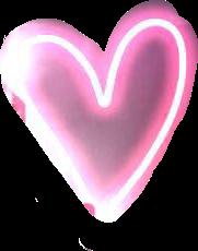 #glowing #pinkheart #freetoedit