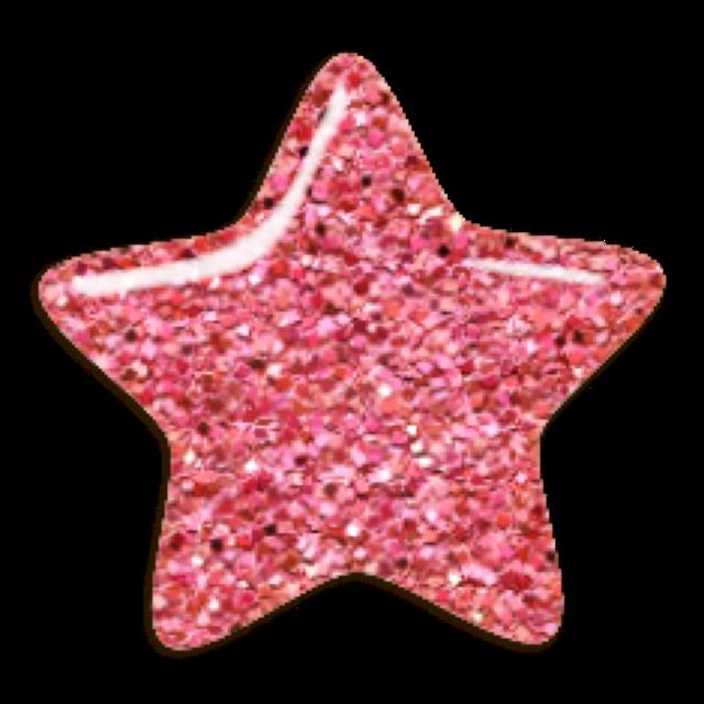 #star #glitter #pink #freetoedit