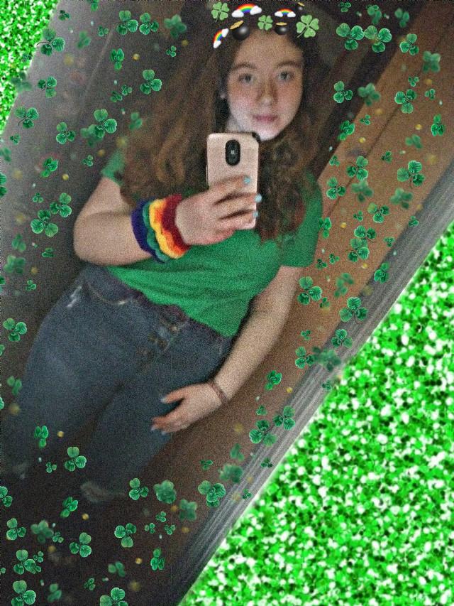 #freetoedit #stpatricksday #green #rainbow #gold
