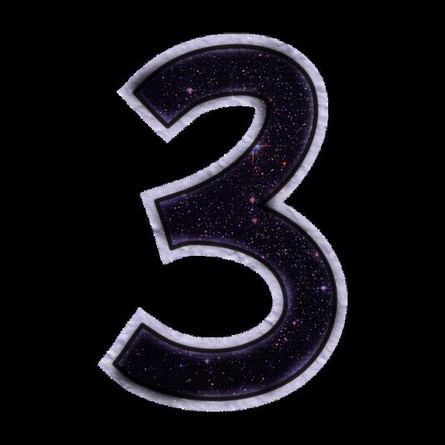 #3 #three #numbers #galaxy #space #stars #glitter #black