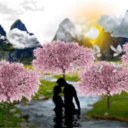 freetoedit springsunset love springtime welcomingspring