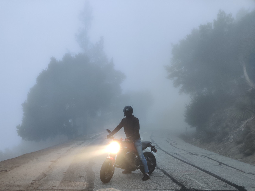 #freetoedit #fog #bike #biker #mysterious #rider #foggy