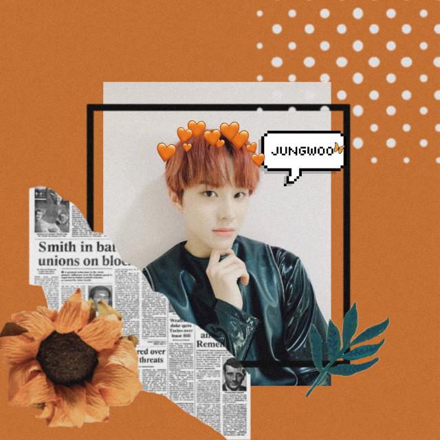 #freetoedit #orange #nct #jungwoo #aesthetic