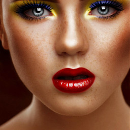 freetoedit girl girlpower neonmakeup makeup