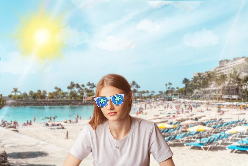 #freetoedit #springbreak #beach #beachlife #backgroundchange #change #background #squarefit