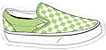 vans green white checkered checkers freetoedit
