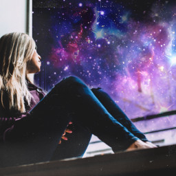 freetoedit unsplash galaxy window galactic