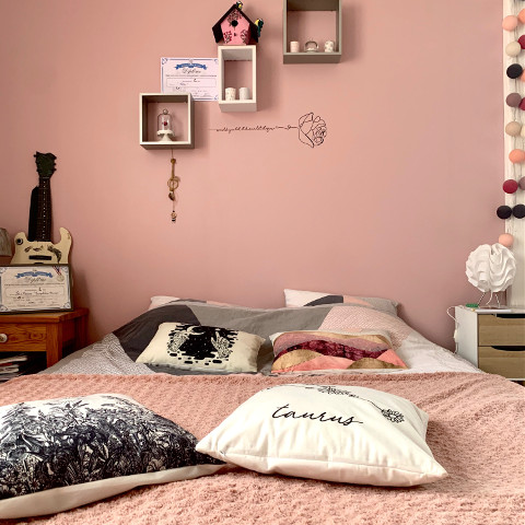 #bed,#bedroom,#taurus,#pink,#rose,#pchomesanctuary,#homesanctuary,#createfromhome,#stayinspired