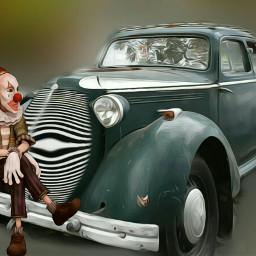 freetoedit steampunkstyle car oldcar wideangle