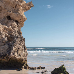 beachmood rockformations calmwaves beachvibes bluesky freetoedit