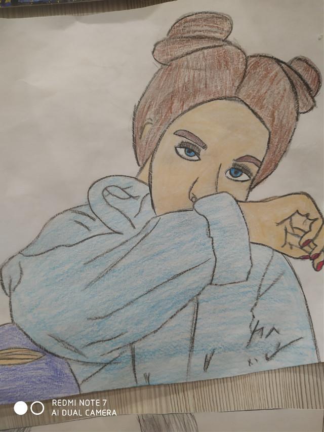 Ещё один мой рисунок (знаю глаза получились не очень )