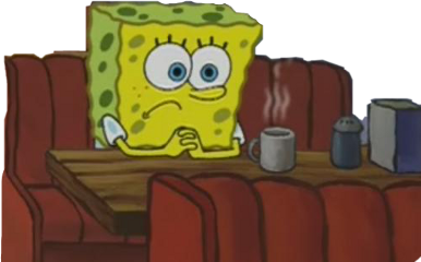 meme spongebob thinking freetoedit