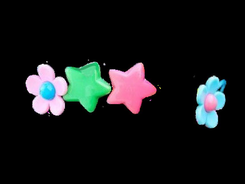 #decora #harajuku #cute #kawaii #kidcore #haircip #hairpin #star #flower #freetoedit