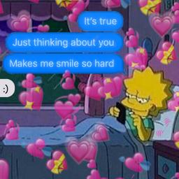freetoedit love text textmessages lisasimpson