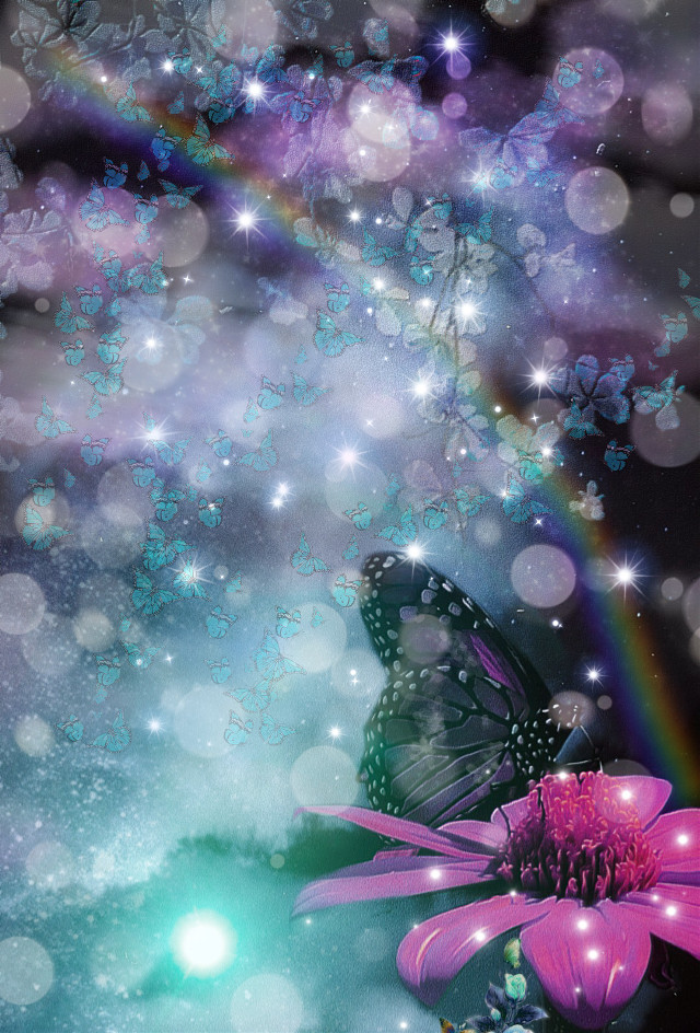 #freetoedit #butterfly #flower #magical