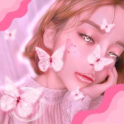 freetoedit butterflies aesthetic pinkaesthetic pink srcpinkbutterflies pinkbutterflies createfromhome stayinspired