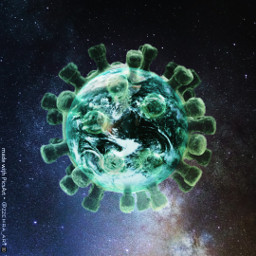 corona covid19 space earth quarantine freetoedit