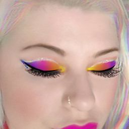 freetoedit makeupart rainbowmakeup lgbtsupport colorfulmakeup