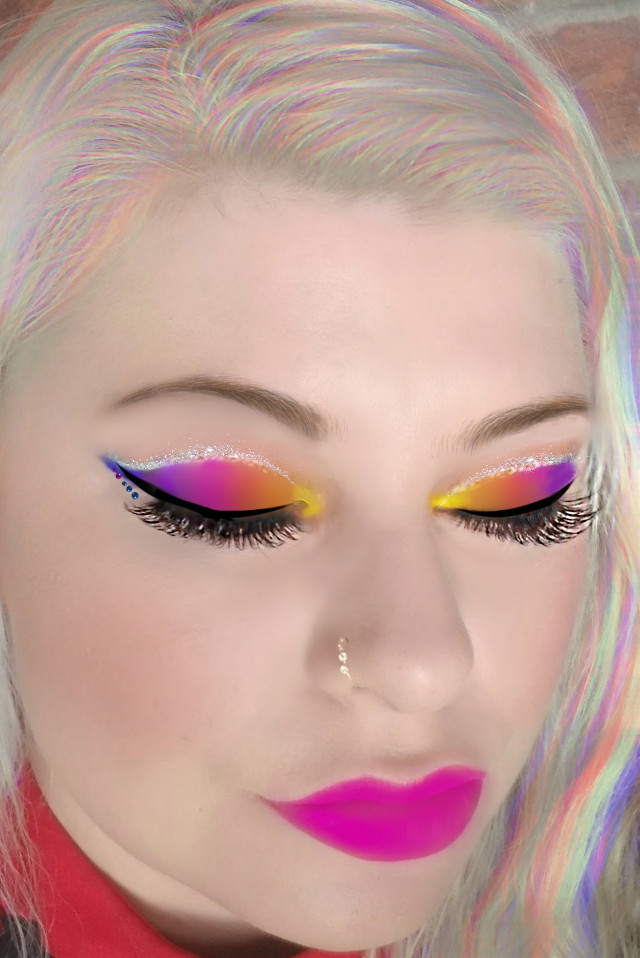 #freetoedit #makeupart #rainbowmakeup #lgbtsupport #colorfulmakeup
