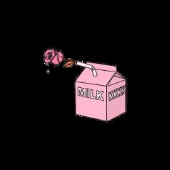 milk aesthetic grunge pink pastel freetoedit