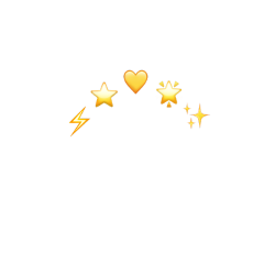 crown yellow heart star lightning freetoedit
