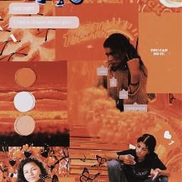zendaya wallaper aesthetic orange orangeaesthetic freetoedit