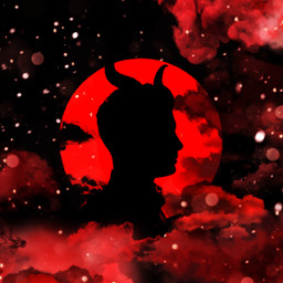 freetoedit horns red clouds sillouette ircsilhouette silhouette createfromhome stayinspired
