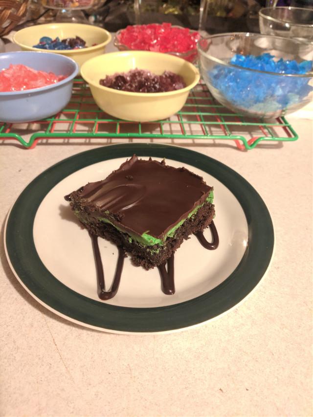 #brownie #confortfood #minty