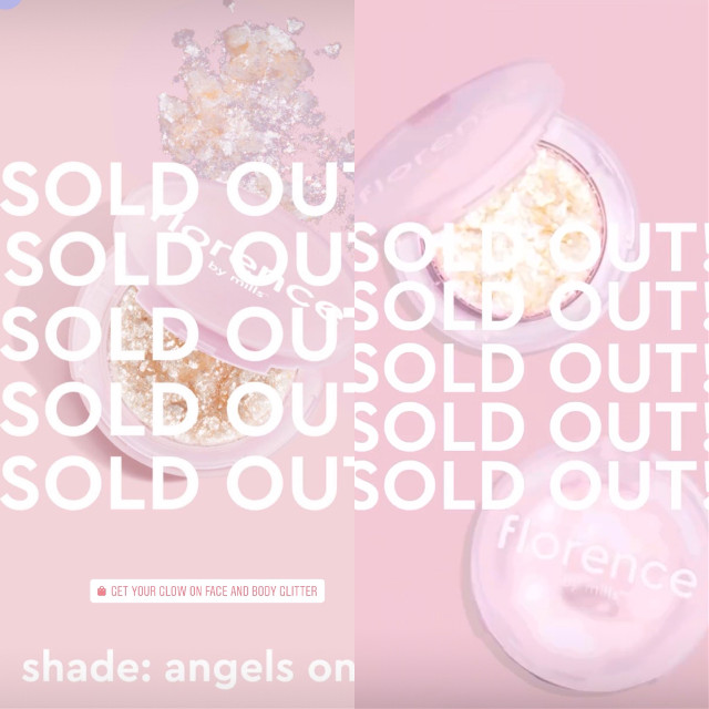 Both glitters are sold out! #milliebobbybrown #florencebymills #florence #by #mills #florencefamily #family