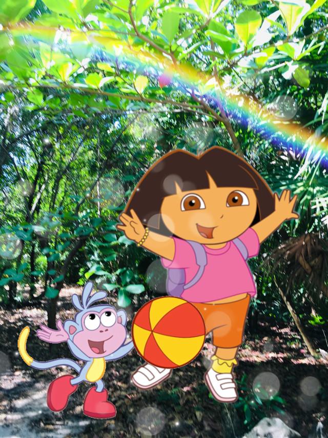 #freetoedit #rainforest #doratheexplorer #funny