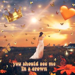 crown youshouldseemeinacrown orangeheart freetoedit