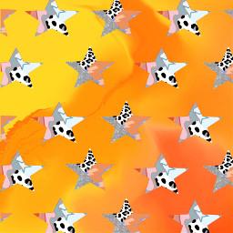 freetoedit orange stars print ombre srcaestheticstars aestheticstars createfromhome stayinspired