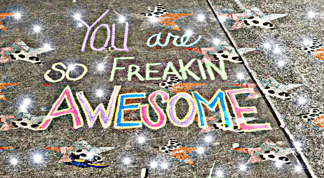 #freetoedit #awesome #freakin #you #text #chalk #stars #hdreffect #brushtool
