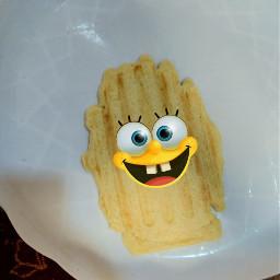 freetoedit spongebob wafles wafle pd